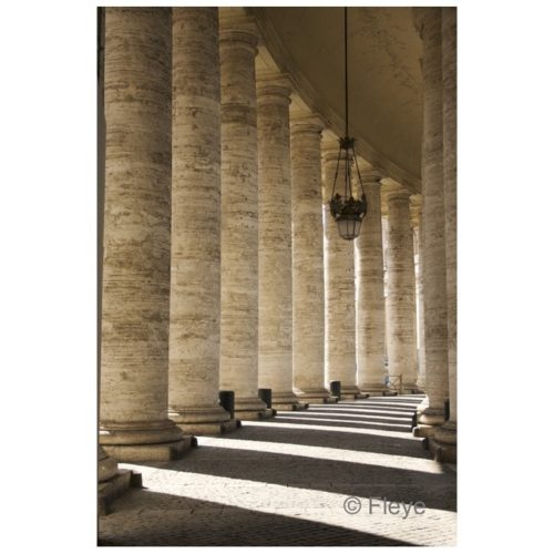 Magnifique photo Fleye des colonnades à Rome - Fleye Photography